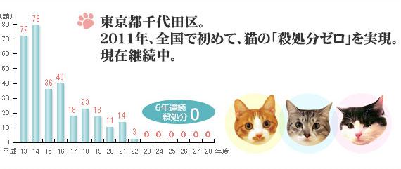 千代田区は全国で初めて猫殺処分ゼロを達成した