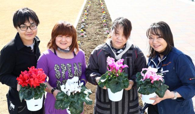 殺処分した犬猫の遺灰を肥料にした花壇(大分県 動物愛護センター)